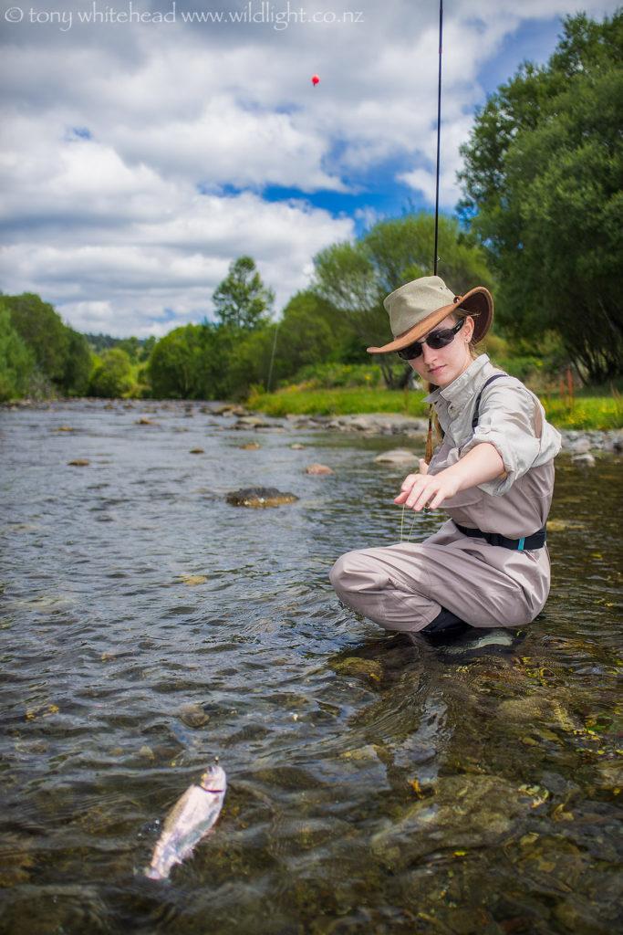 Flyfishing the Whirinaki River.